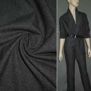 Тканина костюмна темно-сіра ш.150