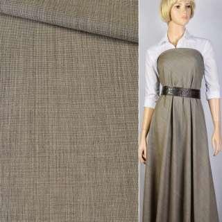 Ткань костюмная бежево-коричневая Германия ш.154