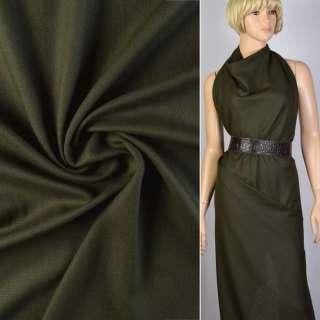 Ткань костюмная темно-зеленая Германия ш.148
