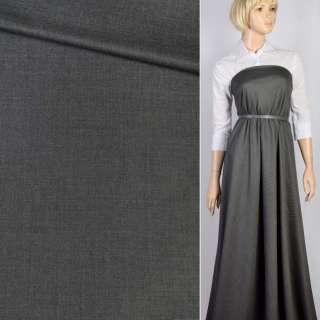 Тканина костюмна сіра світла меланж, ш.150