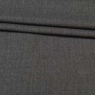 Тканина костюмна сіра в світло-сіру точку, ш.160