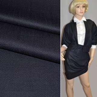 Ткань костюмная сине-черная Германия ш.154