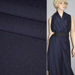 Ткань костюмная темно-синяя Германия ш.158