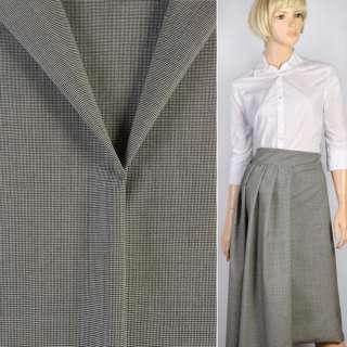 Ткань костюмная гусиная лапка черно-белая, ш.150