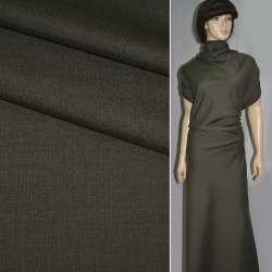 Тканина костюмна коричнева в коричневу смугу ш.155