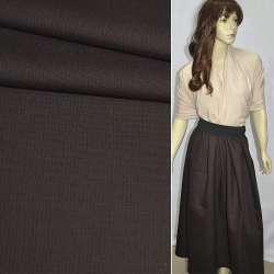 Тканина костюмна коричнева темна в чорну смужку ш.155