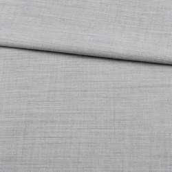 Льон з шерстю костюмний сірий світлий ш.155