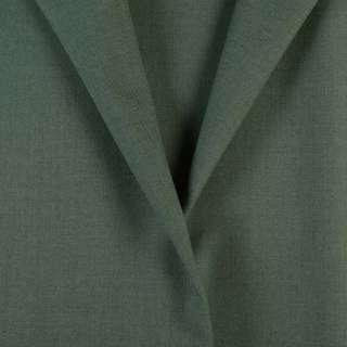 Ткань костюмная зеленая с серым оттенком, ш.154