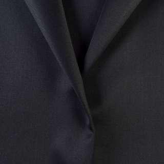 Ткань костюмная черно-синяя, ш.155
