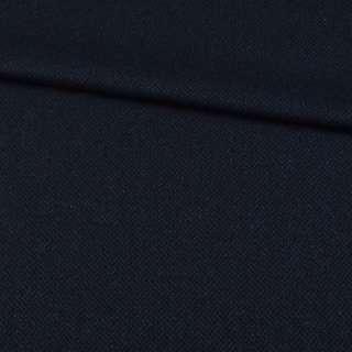 Шерсть костюмная ромбы сине-черная, ш.157