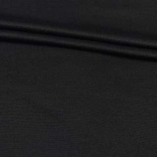 Ткань костюмная черная с начесом, ш.149