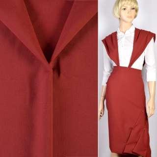 Ткань костюмная красная темная, ш.150