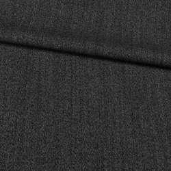 Шерсть костюмная Becker черно-серая меланж, ш.158