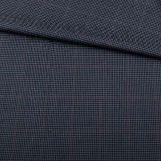 Шерсть BECKER костюмная серая в мелкую серую клетку ш.150