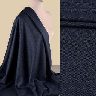 Полушерсть костюмная HARRIS TWEED синяя в мелкий узор ш.155