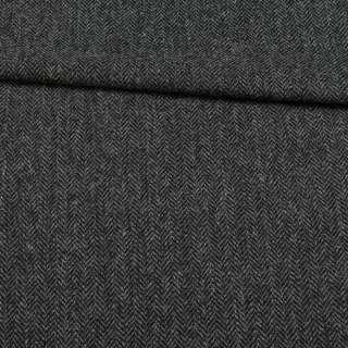 Твид Becker костюмный черно-серая елочка, ш.153