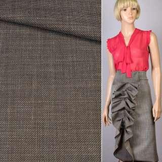 Тканина костюмна TOMMY HILFIGER коричнева меланж, ш.155