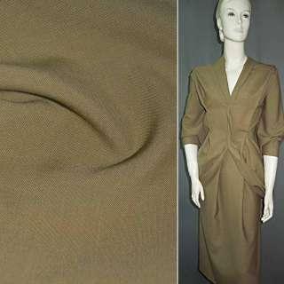 Ткань костюмная бежево-коричневая ш.155