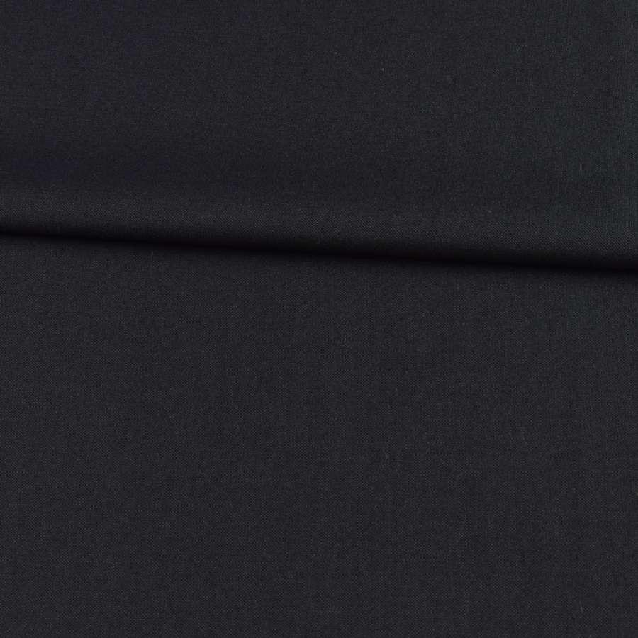 Габардин вовняний костюмний чорний ш.153