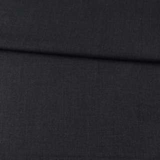 Габардин стрейч шерстяной костюмный черно-серый ш.155