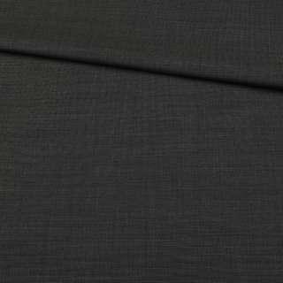 Шерсть костюмная черная в бежевую точку, ш.152