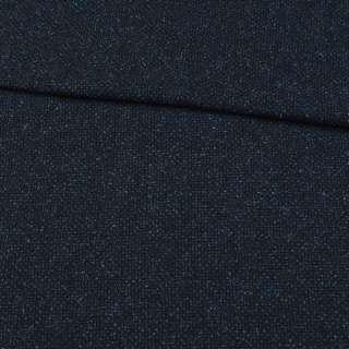 Шерсть костюмная синяя меланж, ш.152