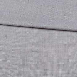 Шерсть костюмна сіра світла в клітку ш.150