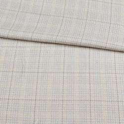 Шерсть костюмна сіро-блакитна в молочну клітку ш.155