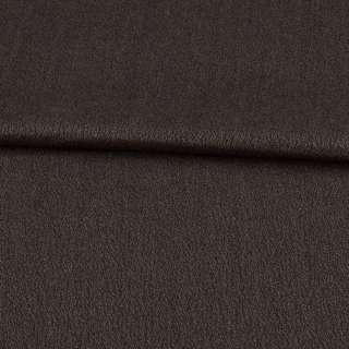 Креп шерстяной муар коричневый ш.150