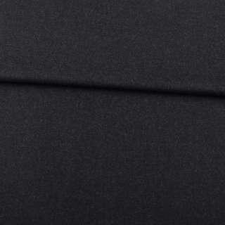 Шерсть стрейч чорно-сіра ш.152