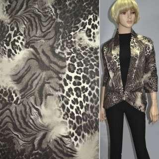 """коттон коричнево-бежевый """"леопард"""" ш.150"""