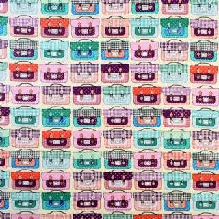 Коттон кремовий в різнокольорові валізи, ш.145