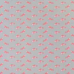 """Коттон """"Darling"""" сірий в коралові косатки, ш.150"""