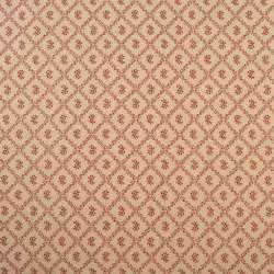 Коттон бежевый в ромбы из красных листьев с цветами, ш.110