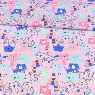 Коттон рожевий, різнокольорові коти, ш.143