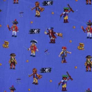 """Коттон """"Popelin"""" ультрамарин з піратами ш.147"""