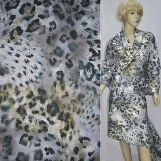 """коттон бело-серый крупный """"леопард"""" ш.150"""