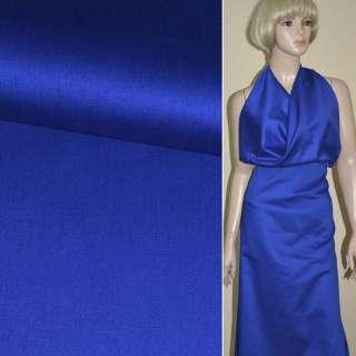 Коттон рубашечный синий (электрик) ш.90