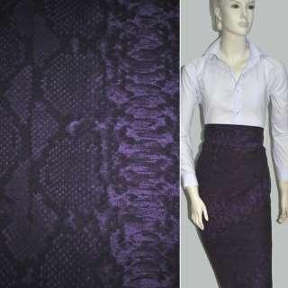 Коттон фиолетово-черный с белыми прямоугольниками