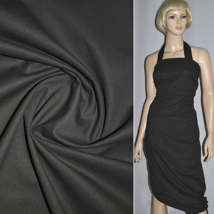 Коттон серый темный с коричневым оттенком ш.157