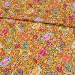 Коттон жовтий, різнокольорові цукерки, ш.148
