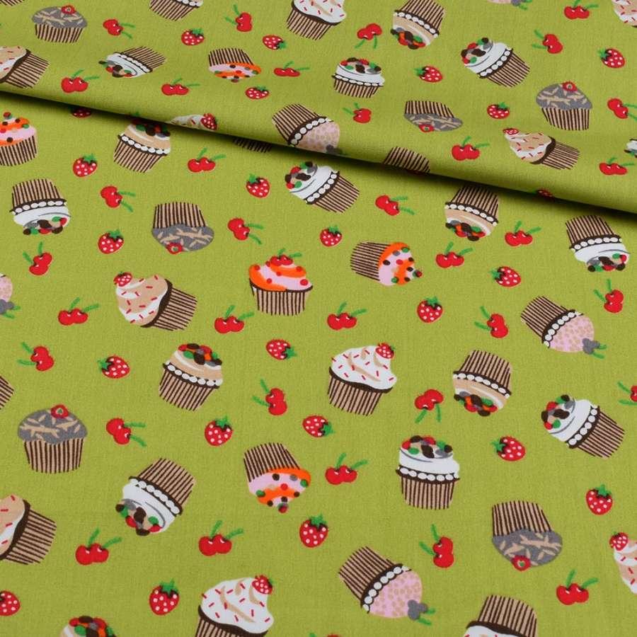Коттон зелений, ягоди, тістечка, ш.148