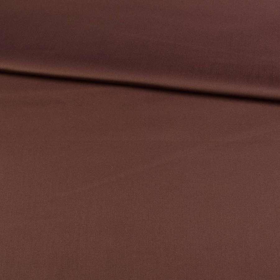 Коттон стрейч коричневый, ш.150