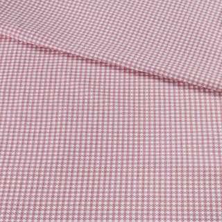 Коттон жаккардовый белый в красную клетку ш.155