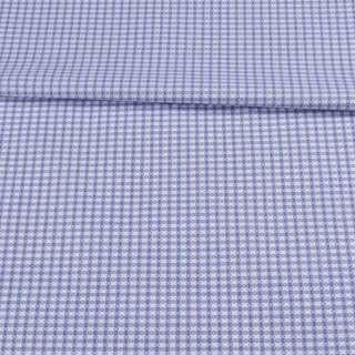 Котон жакардовий білий в блакитну клітку ш.155