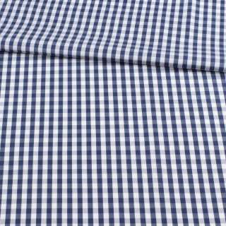Котон білий в синю клітку 1см ш.155
