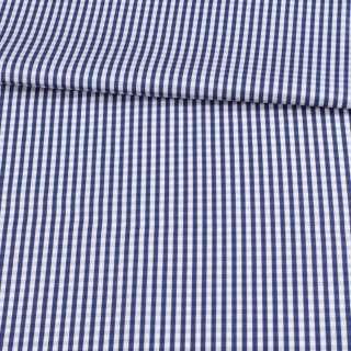 Котон білий в синю клітку 5 мм ш.155