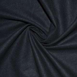 Лен стрейч сине-черный ш.134