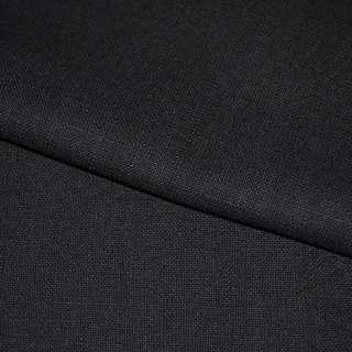 Лен стрейч черный с синим оттенком ш.150