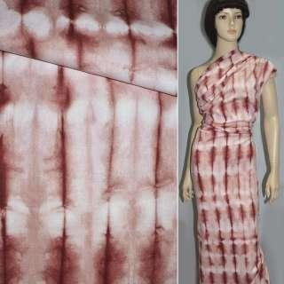 Льон костюмний бордовий з рожевим ш.152